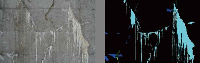 コンクリート劣化部分のアノテーション